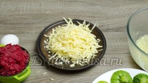 Фаршированные кабачки: Твердый сыр натереть