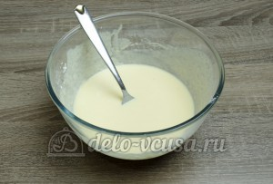 Пирог с черникой: Хорошо перемешать ингредиенты