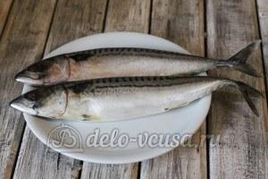 Маринованная скумбрия: Разморозить рыбу