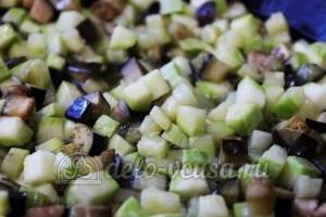 Удон с овощами: Баклажаны добавить к кабачкам