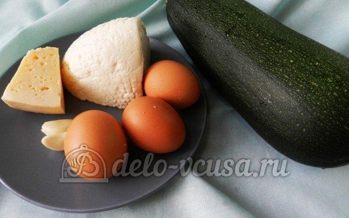 Запеканка из кабачков и творога: Ингредиенты