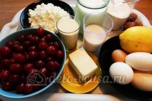 Пирог с вишней и творогом: Ингредиенты