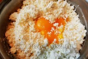 Пирог с вишней и творогом: Творог соединить с желтками