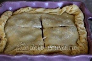 Пирог с ливером: Делаем крестообразный надрез