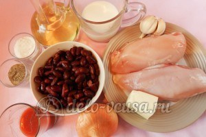 Курица с фасолью: Ингредиенты