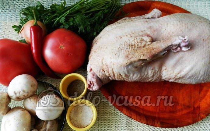 Тушеная утка с грибами: Ингредиенты