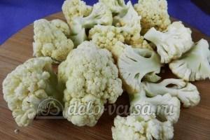 Цветная капуста в остром кляре: Обработать цветную капусту