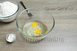 Сибирские пельмени: Яйца смешать с водой