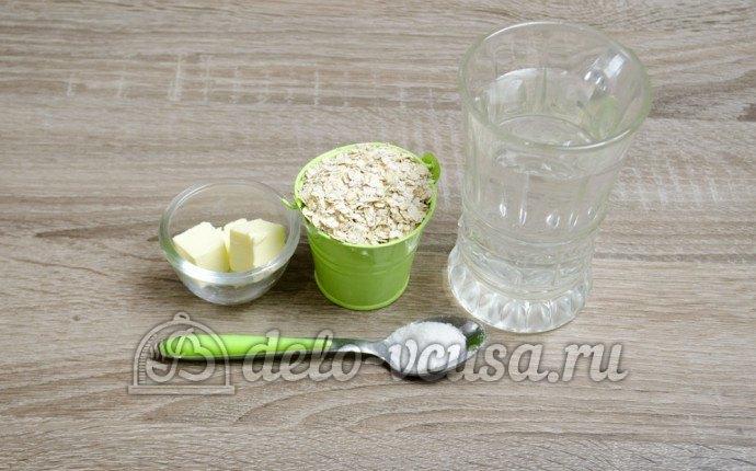 Овсяная каша на воде: Ингредиенты