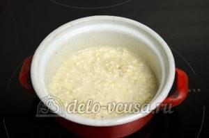 Овсяная каша на воде: Ставим кашу на плиту
