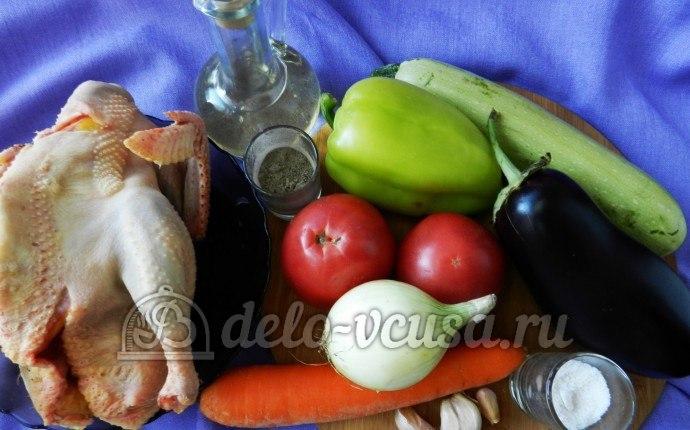 Курица под овощами: Ингредиенты