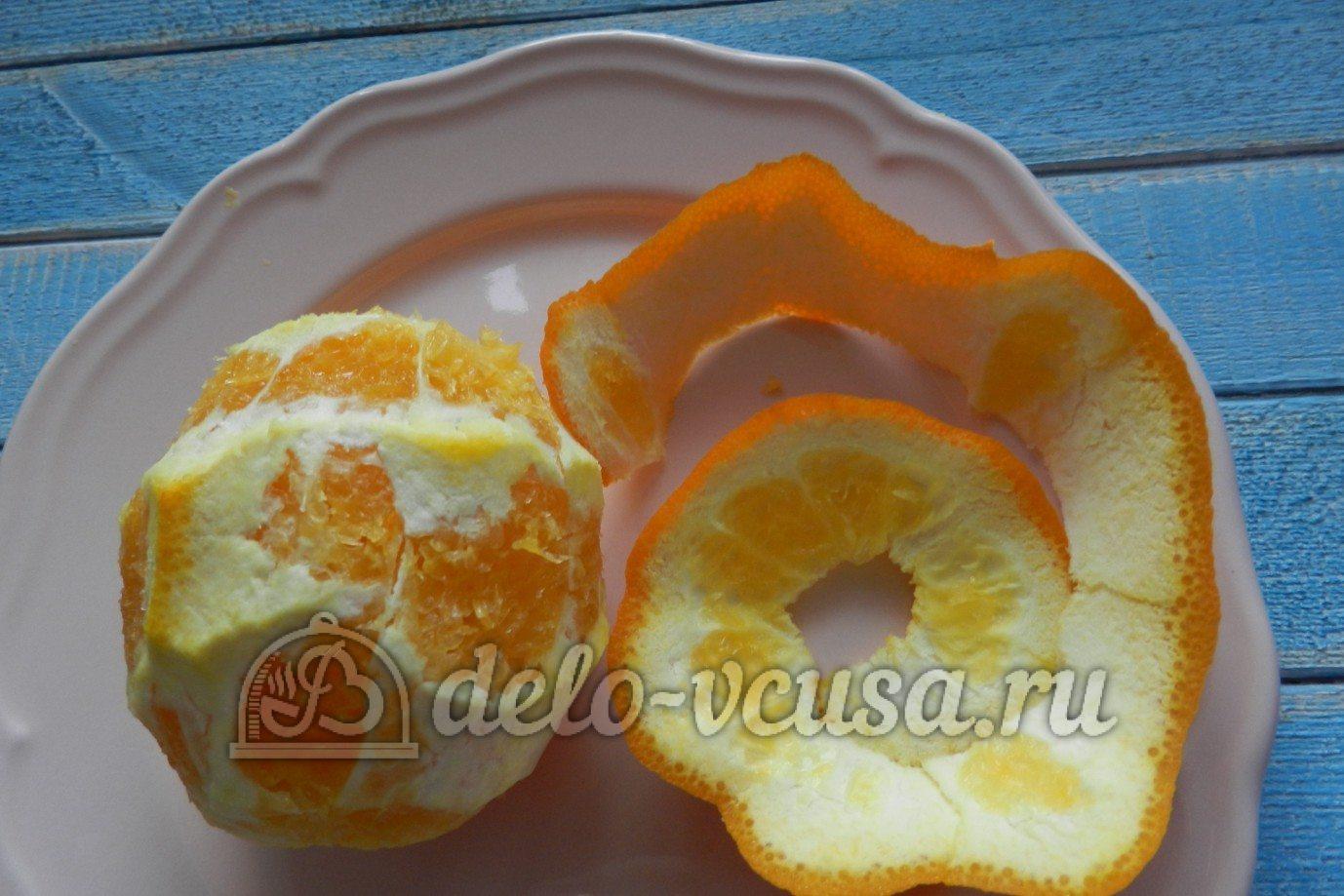 Апельсиновый чизкейк: Апельсин очистить