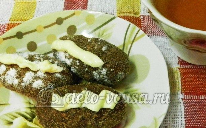 Пирожное картошка с орехами и коньяком