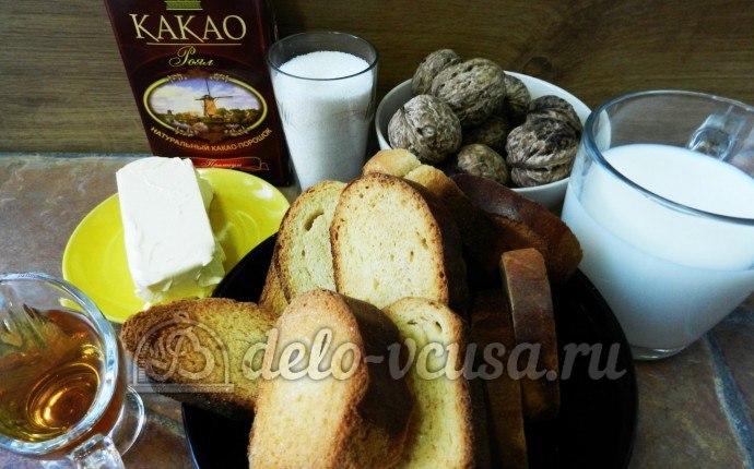 Пирожное картошка с орехами: Ингредиенты