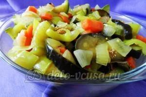 Курица под овощами: Сверху кладем овощи