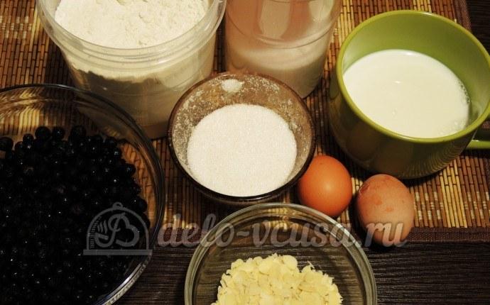 Пирог с черникой и кремом: Ингредиенты