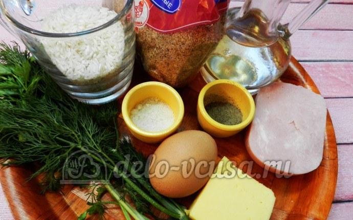 Рисовые крокеты: Ингредиенты