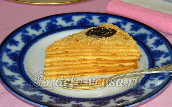 медовик с заварным кремом пошаговый рецепт с фото