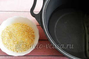 Полента с тефтелями: Варим кукурузную крупу