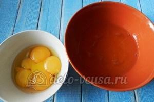 Апельсиновый чизкейк: Отделить белки от желтков