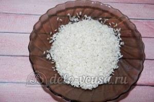 Рисовые крокеты: Промыть рис