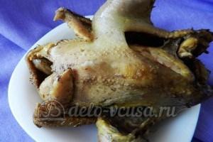 Курица под овощами: Курицу отварить