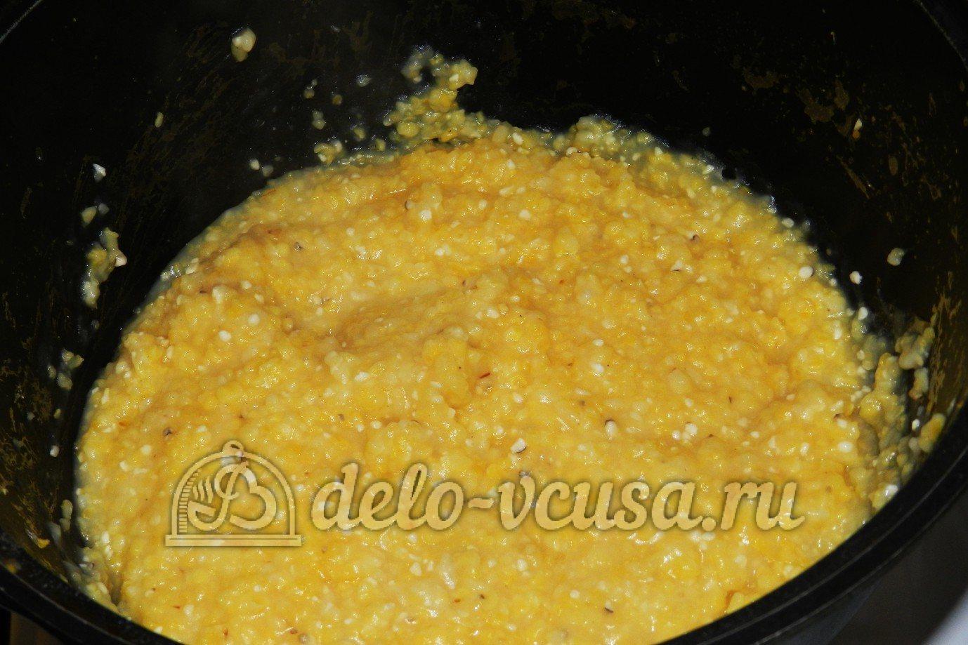 полента с сырным кремом рецепт
