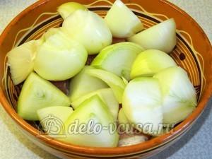 Яичная лапша с мясом и овощами: Подготовить репчатый лук