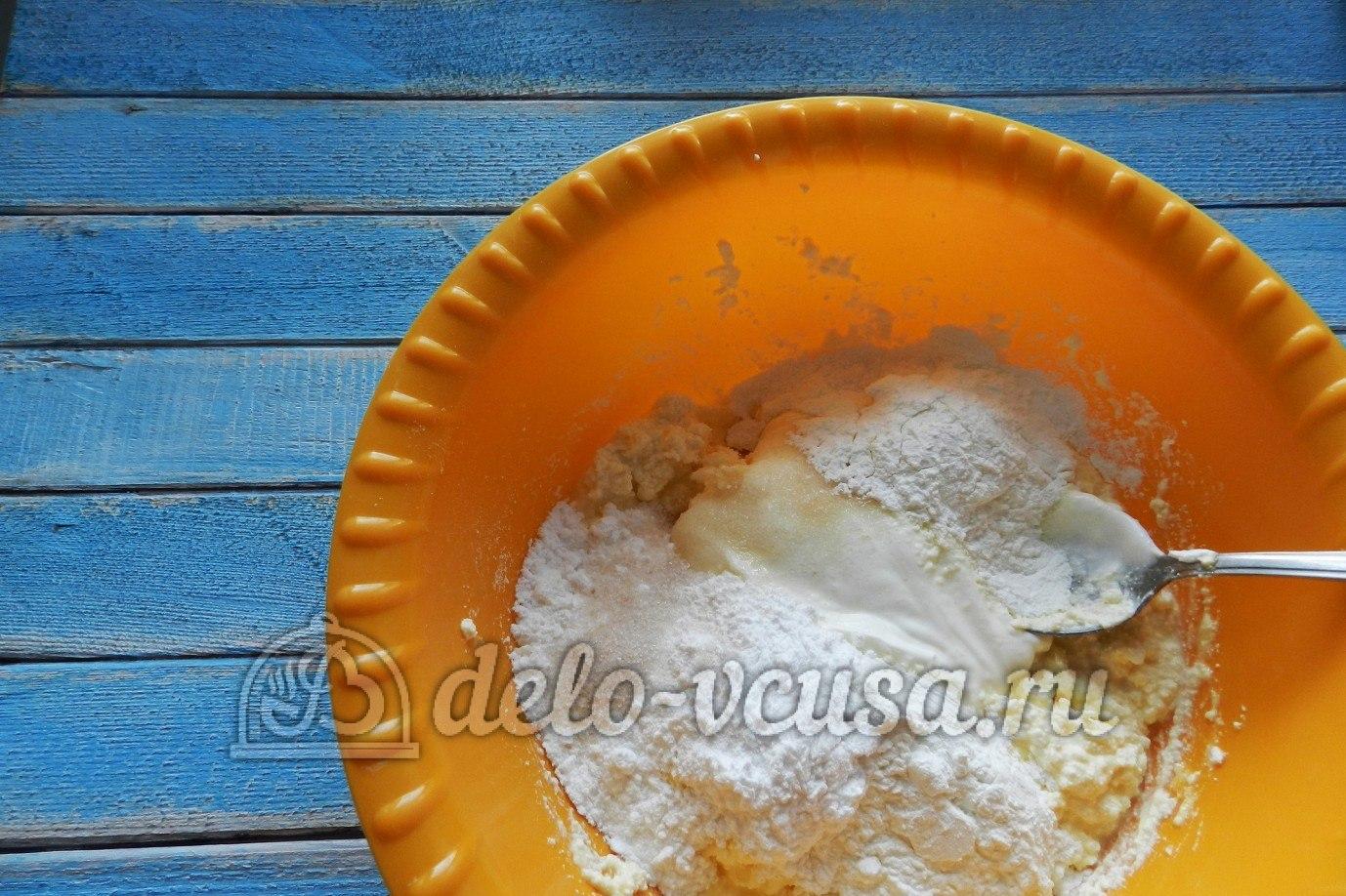 Апельсиновый чизкейк: Добавить сметену