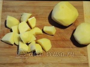 Чанахи: Картошку порезать кубиками