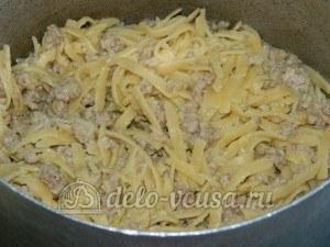 Яичная лапша с мясом и овощами: Перемешала мясо с лапшой