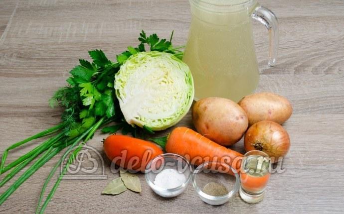 Щи из свежей капусты: Ингредиенты