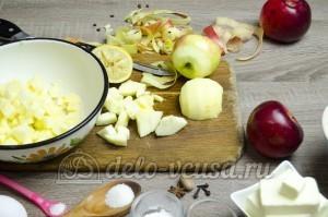 Пирог с яблоками закрытый: Очистить яблоки