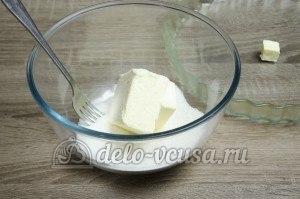 Пирог с яблоками закрытый: Масло соединить с сахаром