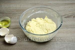 Пирог с яблоками закрытый: Вымешиваем тесто