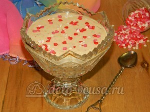 Десерт из айвы с творогом