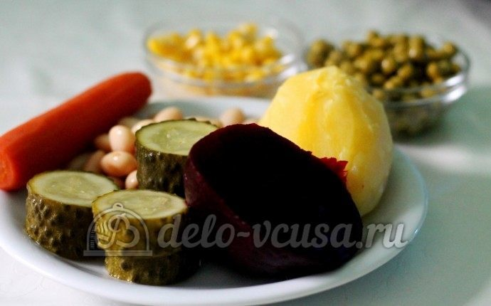 Винегрет с кукурузой: Ингредиенты