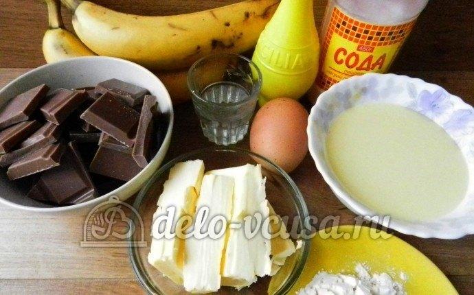Рулет с бананом и сгущенкой: Ингредиенты