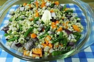 Ребрышки с перловкой: Добавляем овощи