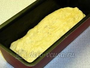 Ржаной хлеб с пшенной мукой: Кладем тесто в форму