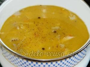 Куриный суп с лимоном: Добавить в суп мясо