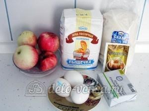 Яблочный пирог с безе: Ингредиенты