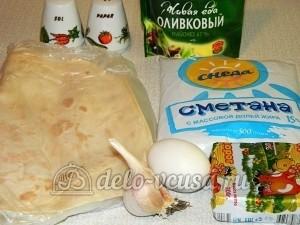 Рулет из лаваша с творогом: Ингредиенты