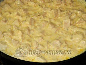 Куриное филе в майонезе: Тушим до готовности
