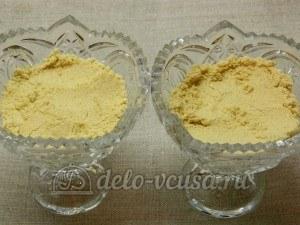 Десерт из айвы с творогом: Выложить печенье