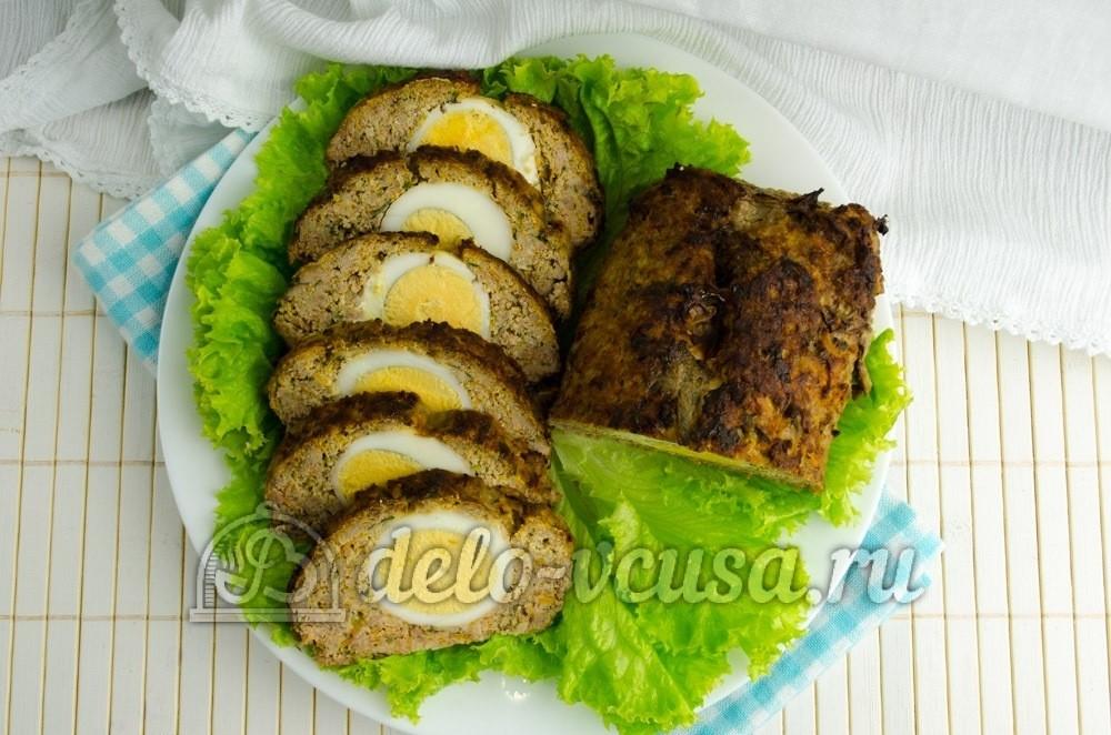 рецепты мясной рулет из фарша в духовке рецепт с фото #7