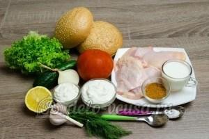 Гамбургер с курицей: Ингредиенты