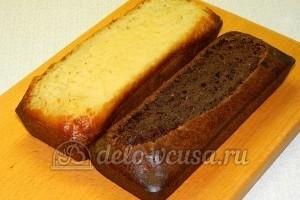 Бисквитные пирожные: С остывших коржей срезать верхушки