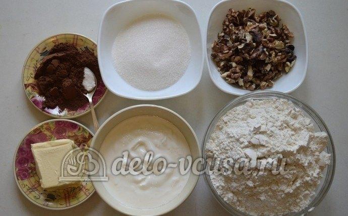 Ореховое печенье с шоколадом: Ингредиенты