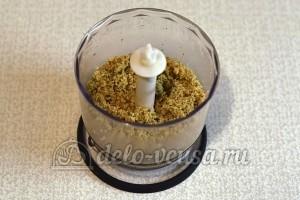 Ореховый торт: Измельчить орехи